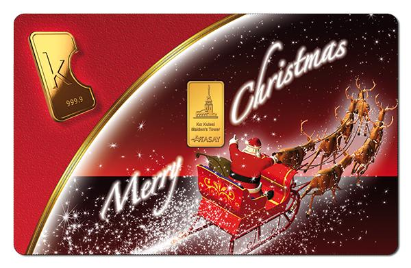 KaratBars | Gold Gift Card - Red Christmas